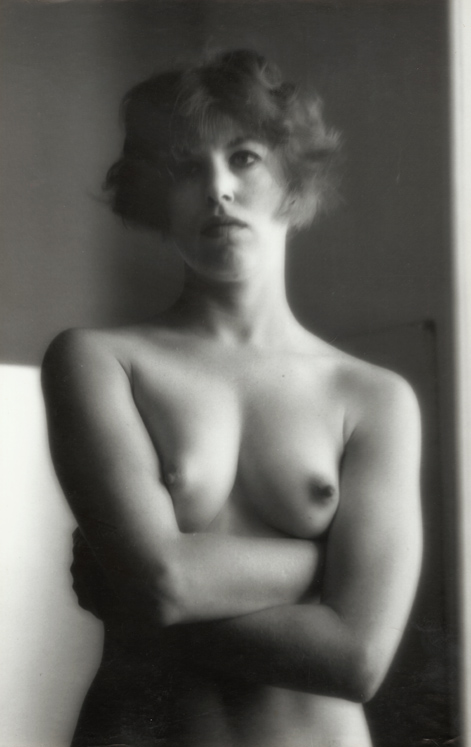 Ruth Bernhard - Female Nude with Crossed Arms