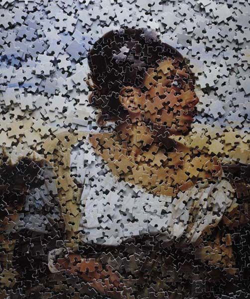 Vik Muniz - Orphan Girl at the Cemetery, after Delacroix from Gordian Puzzles