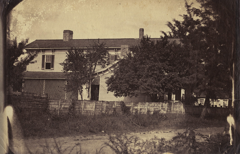 Isaac H. Bonsall - Back View of Large Clapboard House, Chattanooga, Tennessee