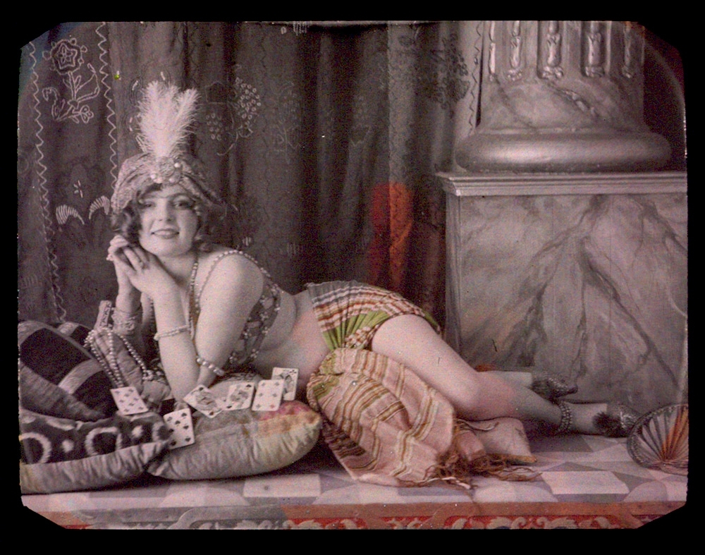 Louis-Amedee Mante (attributed to) - Odalisque with Playing Cards