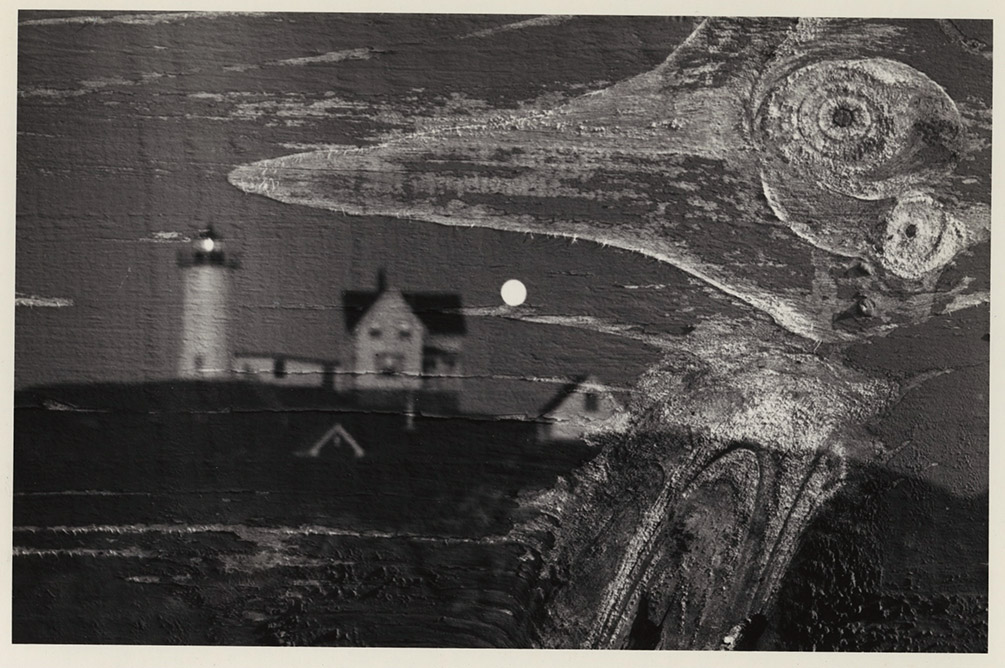 Minor White - Nubble Light, Cape Neddick, Maine, Double Exposure
