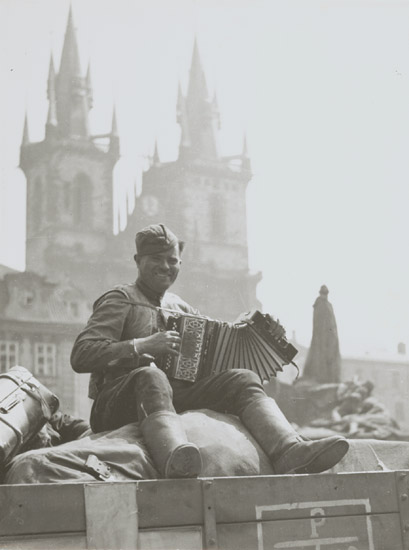 Tibor Honty - May 9th, 1945, Soldier with Accordion