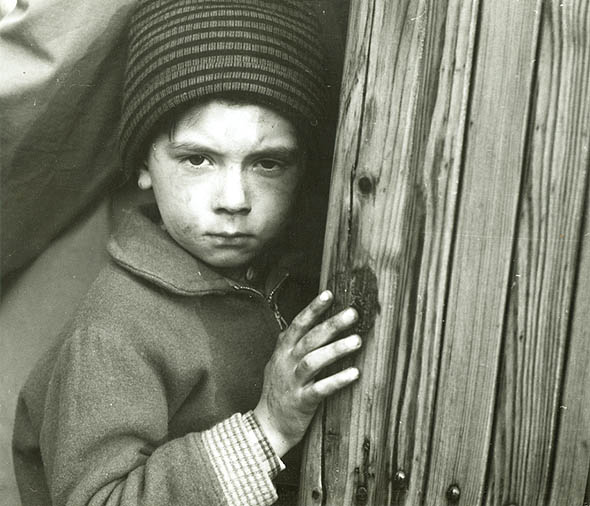 Tibor Honty - Small Boy at Doorway